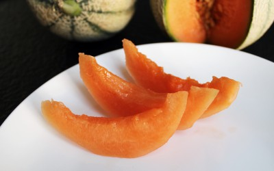 Mogen melon är gott att gnaga i sig.